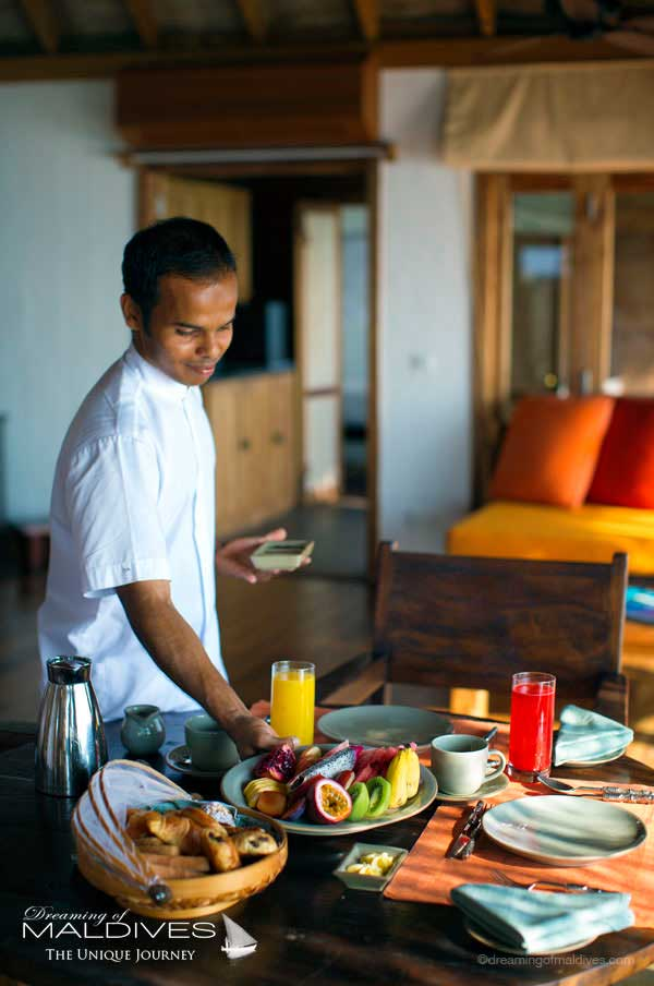 Gili Lankanfushi Maldives In-Villa Breakfast