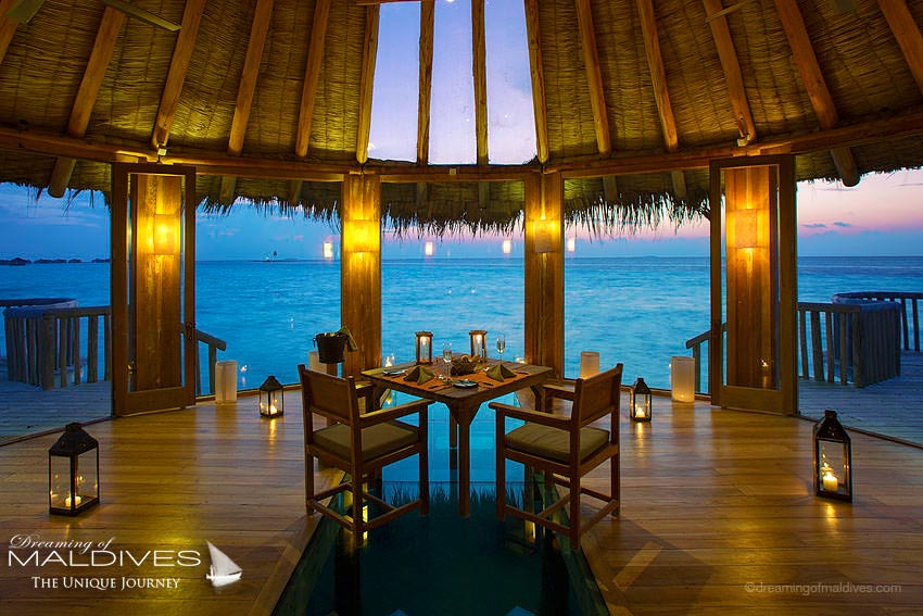 Gili Lankanfushi Maldives Over Water Chapel Diner for 2