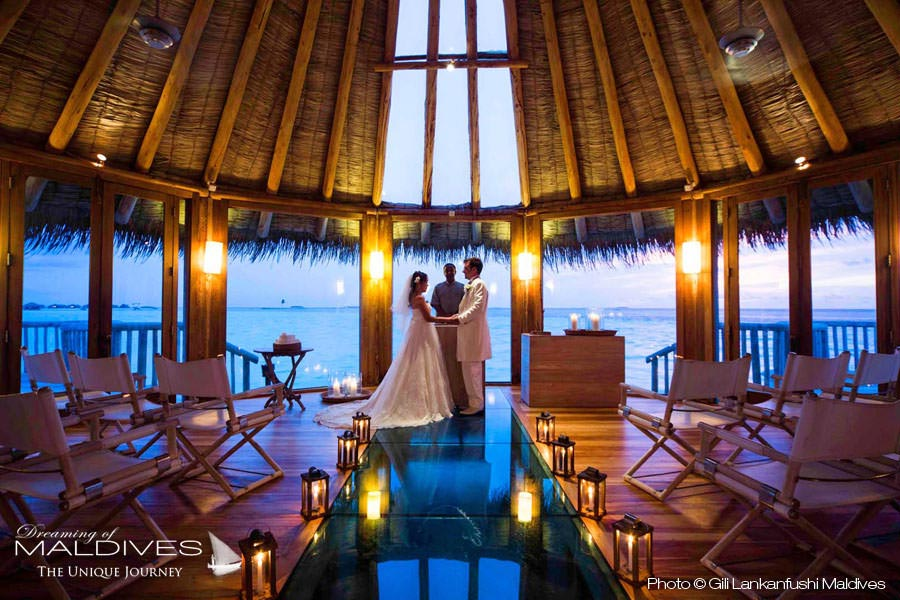 Gili Lankanfushi Maldives Wedding Ceremony Over Water Chapel