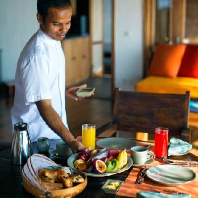 Gili Lankanfushi Maldives best Moment and Place Breakfast In Villa