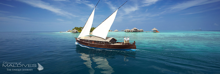 Huvafen Fushi Maldives Huvafen Fushi Cruising the Atolls on board of a Luxury Dhoni