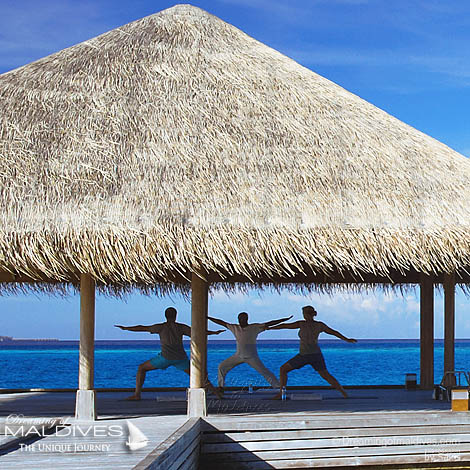 Huvafen Fushi Maldives Spa Treatments for the Mind. Yoga