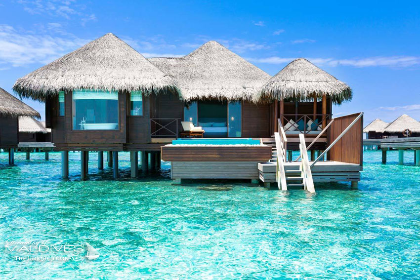 Huvafen Fushi Maldives Lagoon Bungalows with Pool. 130 m2