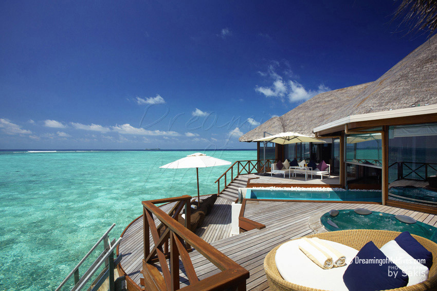 Huvafen Fushi Maldives Two Bedroom Ocean Pavilions with Pool. 330 m2