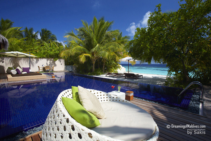 Huvafen Fushi Maldives Beach Pavilion with Plunge-Pool