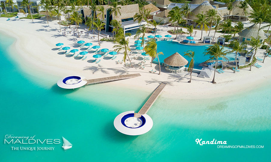 Kandima Maldives Beach Club Aerial View