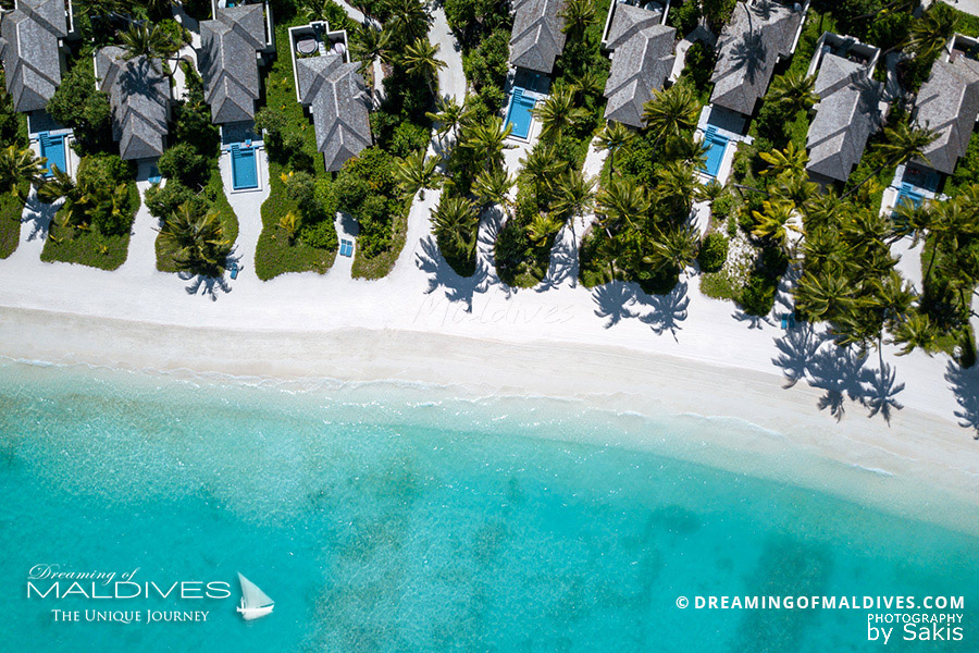 Kandima Maldives Beach Villas - Arial View