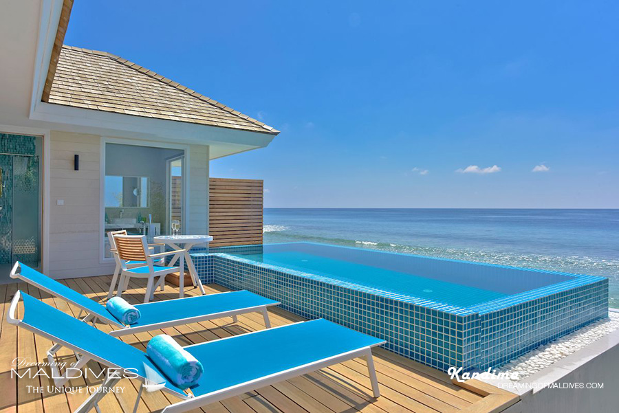 Kandima Maldives Honeymoon Aqua Pool Villa View from the deck