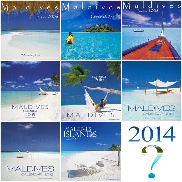 Island Wall Calendar 2014 - Maldives