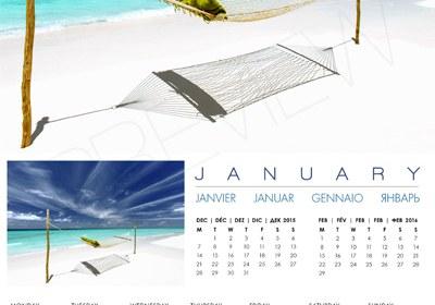 2016 Wall Calendar Islands Maldives