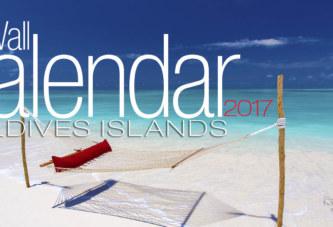 2017 Maldives Wall Calendar. 13 Photos. 13 Months