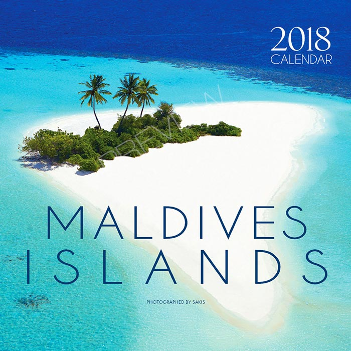 2018 Maldives Wall Calendar. 13 Photos. 13 Months