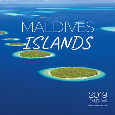 2019 Maldives Wall Calendar. 13 Photos. 13 Months