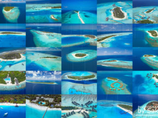 25 beautiful aerial Views of some of the most famous Maldives Resort Islands