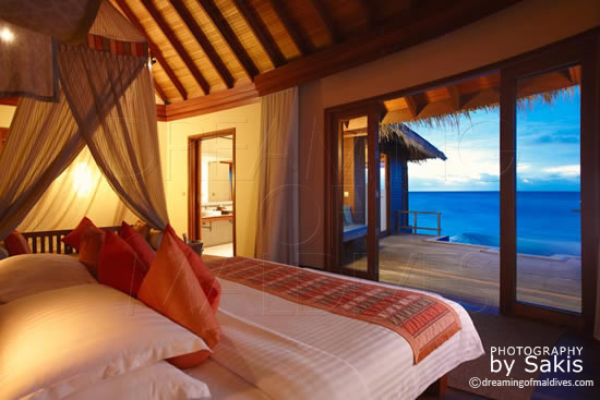 Anantara Dhigu Maldives, Water Villa with Sunset View