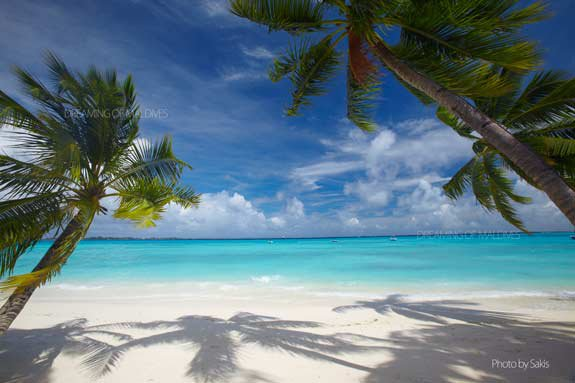 Heavenly beach in Maldives