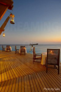 Lighthouse at Baros Maldives Restaurant deck