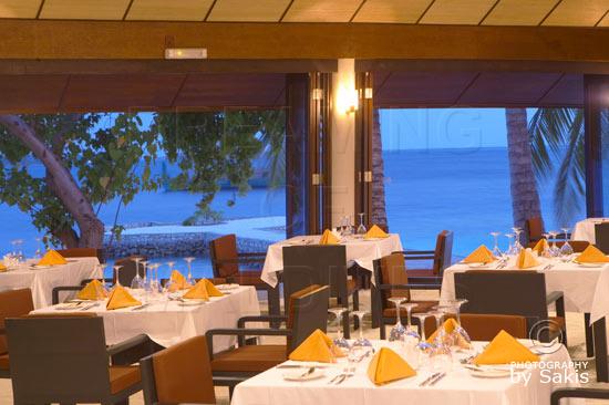 Lily Beach Maldives Main Restaurant with lagoon views