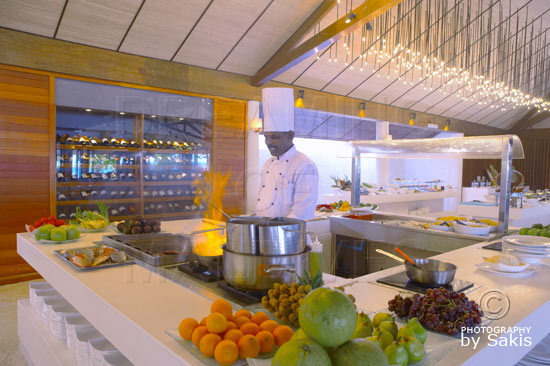Lily Beach Maldives All Inclusive Main Restaurant huge Buffet