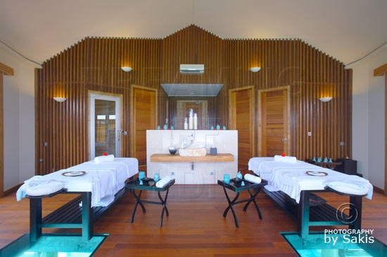 Lily Beach Maldives Glass Bottom Treatment Rooms at the Spa