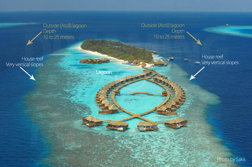 Aerial Photo Lily Beach Resort and Spa