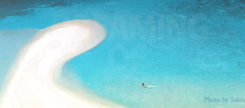 Aerial Photo of sandbank in Maldives