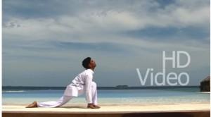 Yoga in Maldives. HD Video