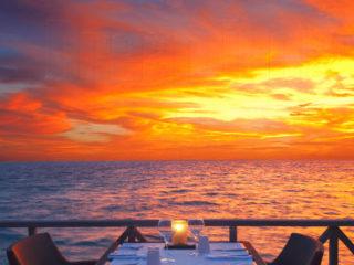 A sunset Diner in Maldives