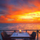 A sunset Diner in Maldives