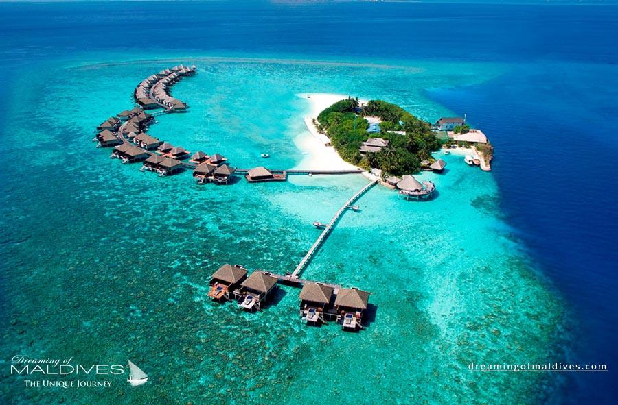 Adaaran Prestige Vadoo Resort Maldives Aerial Photo