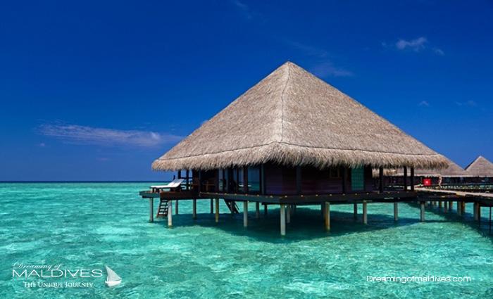 Adaaran Rannalhi Maldives Best Resort for snorkeling in Maldives.Water Villa