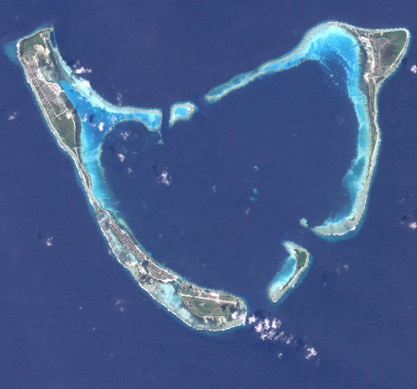 Addu or Seenu Atoll,  Home to Air Equator left, Shangri-La, Approach Lights surf breaks and more..