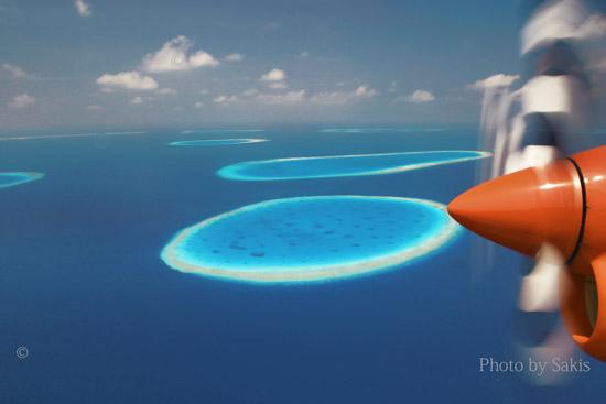 Maldives aerial photo