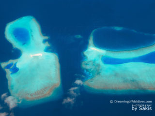 aerial Photo of Maldives Reefs