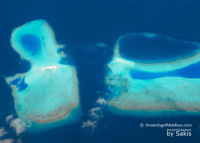 aerial Photo of Maldives Reefs
