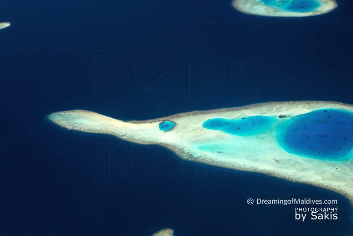 Maldives Aerial Photo - Reefs and Lagoon