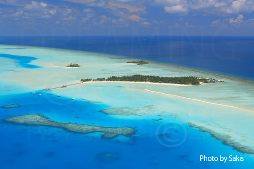 aerial photography maldives
