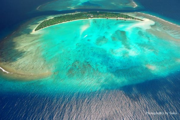 Aerial Photo Maldives by Sakis Papadopoulos