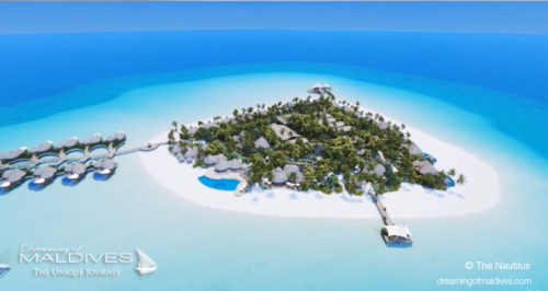 Maldives new hotel opening 2018 The Nautilus Aerial View (New Opening Luxury Resort in Maldives in November 2018 The Nautilus Maldives)