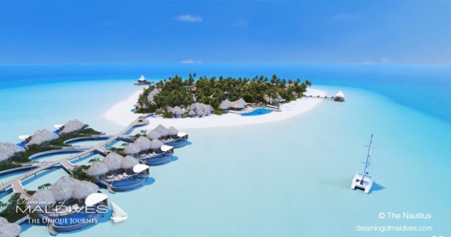 Aerial View of The Nautilus Maldives The New Luxury Resort opening in November 2018
