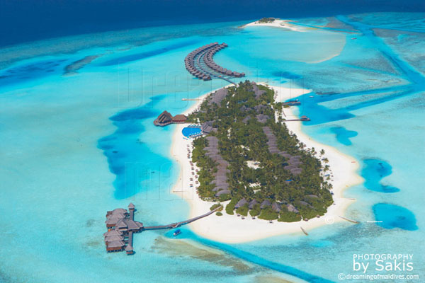 anantara dhigu resort maldives aerial view photo gallery