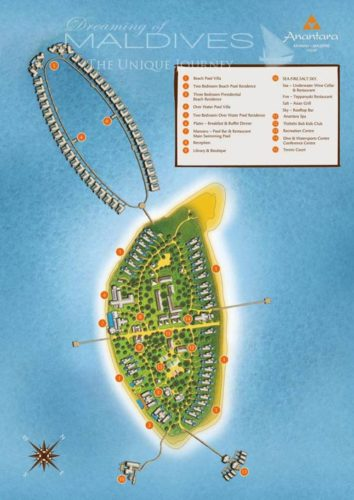 Anantara Kihavah Villas Maldives Resort Map