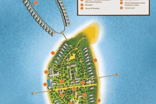 Anantara Kihavah Villas Maldives Resort Map