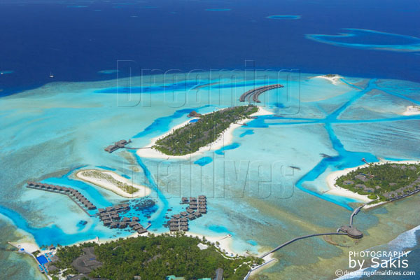 anantara veli maldives aerial view photo gallery