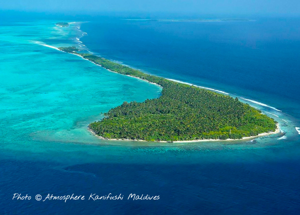 Atmosphere Kanifushi Maldives Aerial view of the New Island Resort