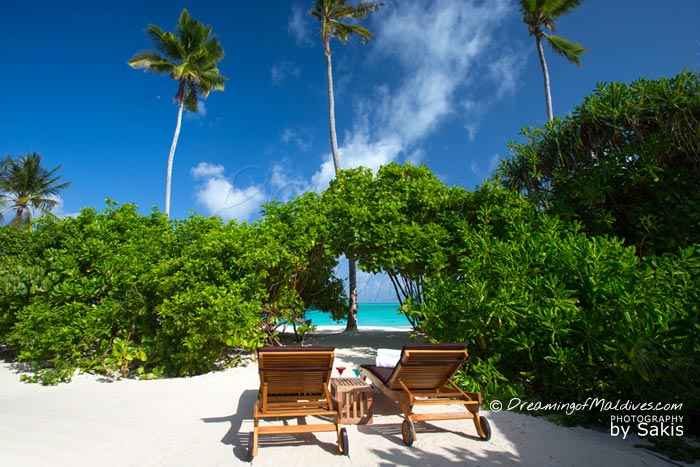 Atmosphere Kanifushi Maldives - View from The Beach Villas with Direct access to the Lagoon