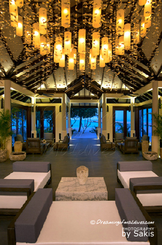 Atmosphere Kanifushi Maldives. View from the Lobby