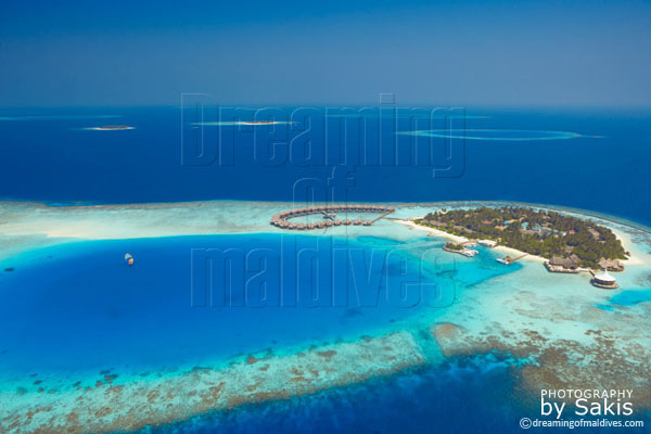 Baros Maldives aerial view photo gallery