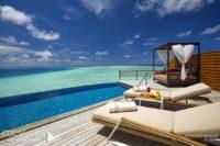 Baros Maldives Water Pool Villa at day