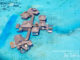 The Private Reserve at Soneva Gili Maldives, the World's biggest Water Villa, aerial photo